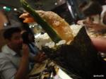 42. Tsuru - Roll with prawn tempura and asparagas