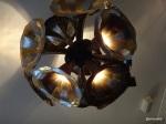 "Disco Bistro EC4 - ""His Master's... light?"" Gramophone Horn Chandelier by bespoke lighting designer Alex Randall"