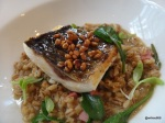 Disco Bistro EC4 - Silver Mullet Cooked over wood, clams, popped barley marmite - malt vinegar (1)