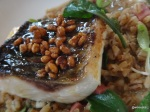 Disco Bistro EC4 - Silver Mullet Cooked over wood, clams, popped barley marmite - malt vinegar (2)