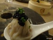 "Bo London - ""Steak & Kidney"" (Steamed Xiao Long Bao topped with Avruga caviar)"