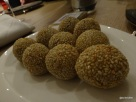 Bo London - Looking like traditional Chinese Sesame Seed Balls...