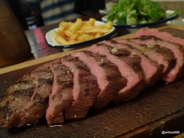 Flatiron Steak (Soho) - Steak, Chips and Salad