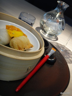 HKK - Dim Sum Triology served with soy and paintbrush
