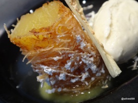 HKK - Pineapple fritter wrapped in fine 'knafeh-dough' style pastry