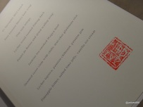 HKK - Stamped menu