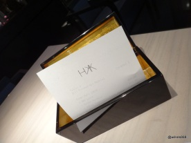 HKK - The bill... presented in a gold lined wooden box