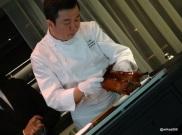HKK - Chef Tong Chee Hwee personally serves the 'Lychee Wood Roasted' Peking Duck