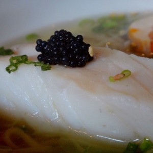 Tonkotsu London: Fish roe on haddock from the Tonkotsu Soho