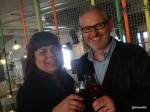 Streets of Spain - Breakfast Cava, Rosana McPhee (Brazilian Blogger) and Oscar Ubide (Director of La Boqueria)