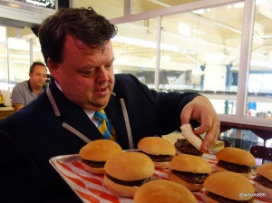 Guinness World Record Attempt by Furious Pete - Burger inspection
