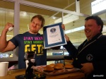 Guinness World Record Attempt by Furious Pete - Presented with the certificate