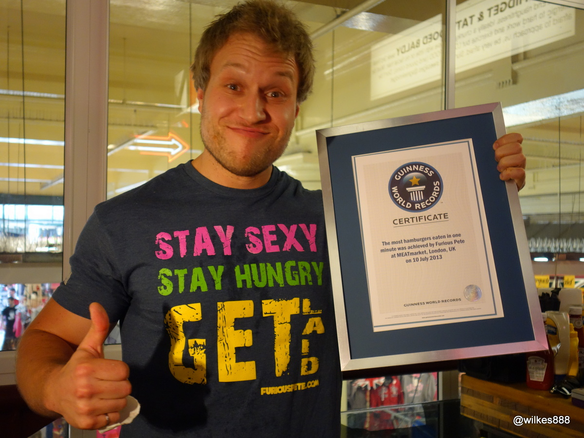 Guinness World Record Eating Food