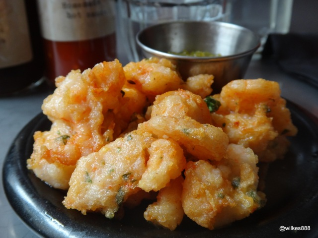 Joe's Southern Kitchen - Popcorn Shrimp with a great Lime Relish