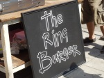 Burger Challenge at Lower Marsh Market - The Ring Bar with their Ring Burger