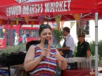 "Burger Challenge at Lower Marsh Market - Master of Ceremonies, Sabrina ""Persian Chef"" Ghayour"