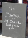 "Burger Challenge at Lower Marsh Market - ""The Ring Bar"" with ""The Burger"""