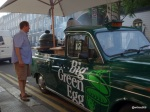 Meatopia UK Launch Party - The Big Green Egg mobile... a kitchen converted from a London Cab