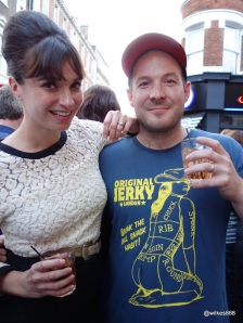 Pizza Pilgrims Launch Party - Gizzi Erskine and Neil Rankin (with Shirt by Original Jerky)