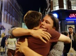 Pizza Pilgrims Launch Party - Man hugs all round...