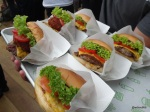 Shake Shack London (Preview) - The Shack defintiely wins points for colour. Amazing looking lettuce, tomato and onion