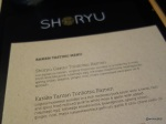 Shoryu Soho Launch Party - Ramen Tasting Menu