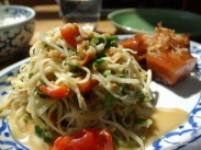 The Begging Bowl - Green Papaya Salad with Sticky Pork