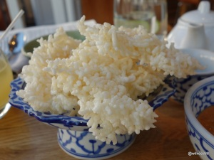The Begging Bowl - Today's Special Starter (Puffed rice served with a satay dipping sauce)