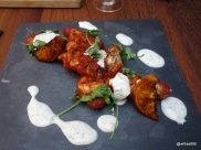 Whyte & Brown - Harissa Hot Wings (Baked chilli chicken wings served with caramelised orange wedges, coriander & minty yoghurt dressing)