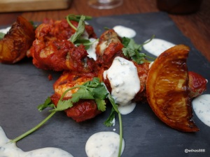 Whyte & Brown - Harissa Hot Wings, the baked chicken wings are extremely soft...