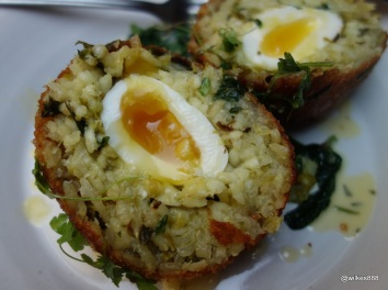 Whyte & Brown - The Risotto Scotch Egg is huge!