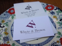 Whyte & Brown - Bill served on fancy plates