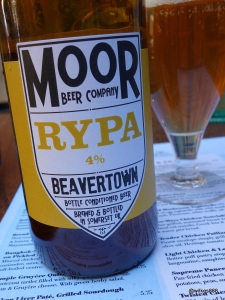 Whyte & Brown - Rypa Beer, one of the guest beers from Beavertown and Moor Beer Co.
