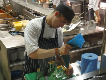 "Benares Restaurant (Mayfair) - Preparing an amuse bouche of ""Chicken Tikka Cones"""