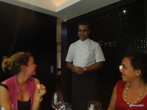 Benares Restaurant (Mayfair) - Atul Kochhar comes to welcome us personally