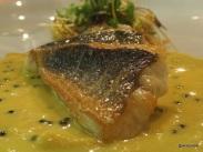 Benares Restaurant (Mayfair) - Lovely crispy sea bass!