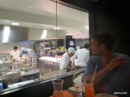 Benares Restaurant (Mayfair) - 'Chef watching' through one way glass (Ben Corrigan)