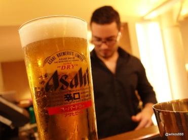 Flesh & Buns - Asahi on tap