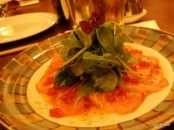 Flesh & Buns - SASHIMI SALAD Spicy lemon dressing