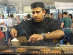 London Burger Bash - Roti Chai's Chef, huge attention to detail.