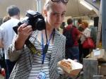 London Burger Bash - Kate Beard.. her burger... and her Roger Moore Impression