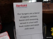 Rentokil Pestaurant - Pigeon, Venison & Bacon Burger