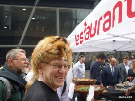 Rentokil Pestaurant - Not sure why he has a fox hat in the middle of summer.