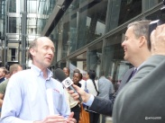 Rentokil Pestaurant - Brazilian TV interviewing David Cross, Head of Technical Training from Rentokil