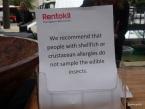 Rentokil Pestaurant - Do not eat if allergic to seafood?