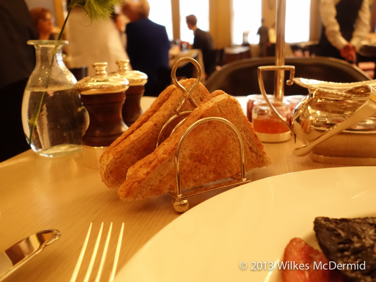 Berners Tavern - Toast