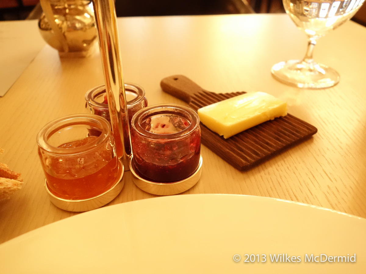 Berners Tavern - Jam and Butter