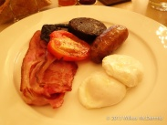 Berners Tavern - English Breakfast (Bacon, Eggs, Tomato, Sausage and Black Pudding)
