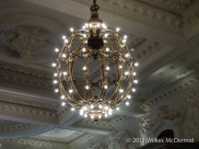 Berners Tavern - NYC Grand Central Station inspired chandeliers