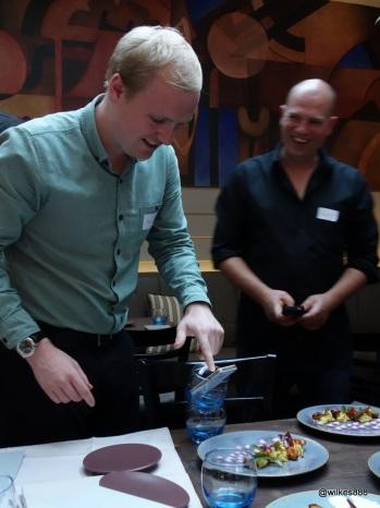 Lima Restaurant London - Improvised double-tumbler tripod